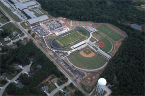 Aerial view of the Social Circle High School Complex