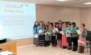 Girl Scouts Present Bronze Award Project Proposal