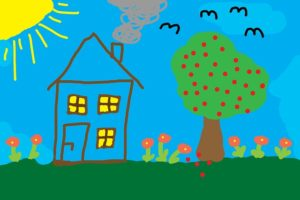 Child's drawing of house