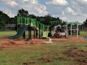 Burks Field Playground Construction