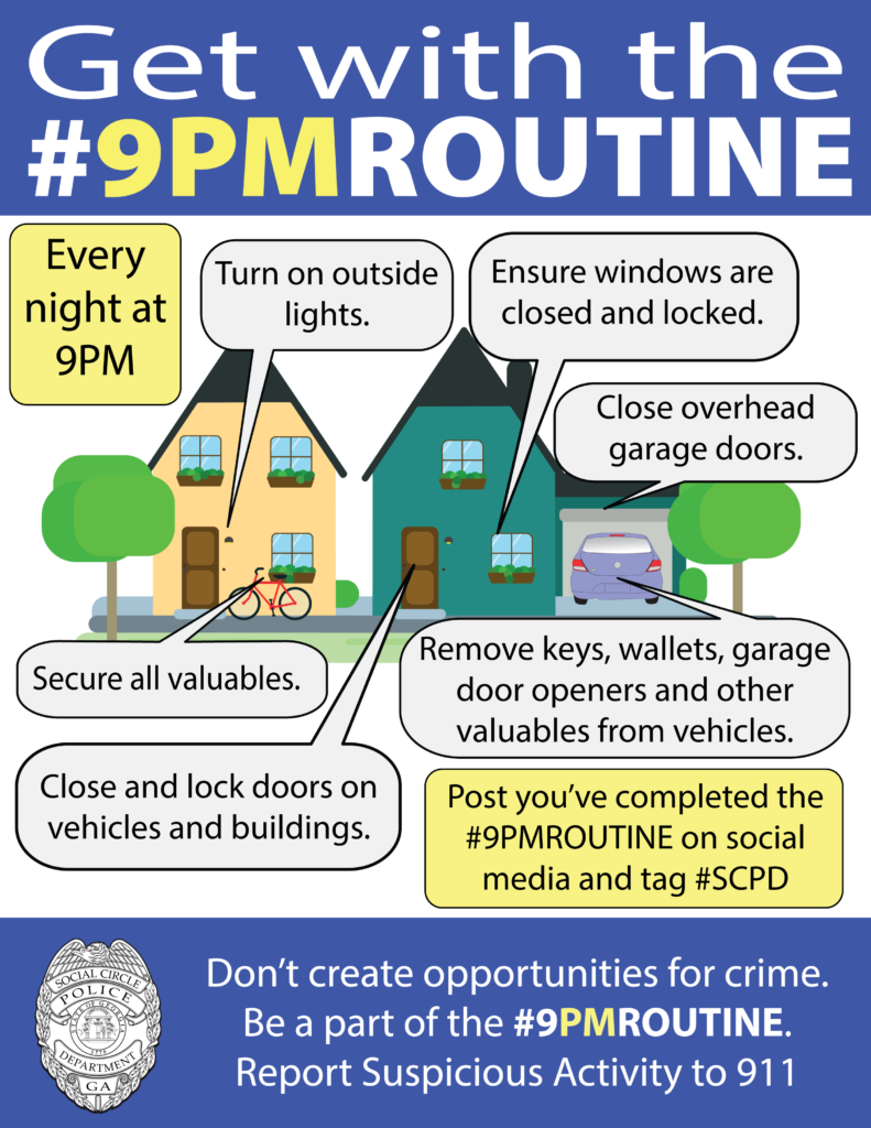 Scpd Launches Get With The 9pmroutine City Of Social Circle
