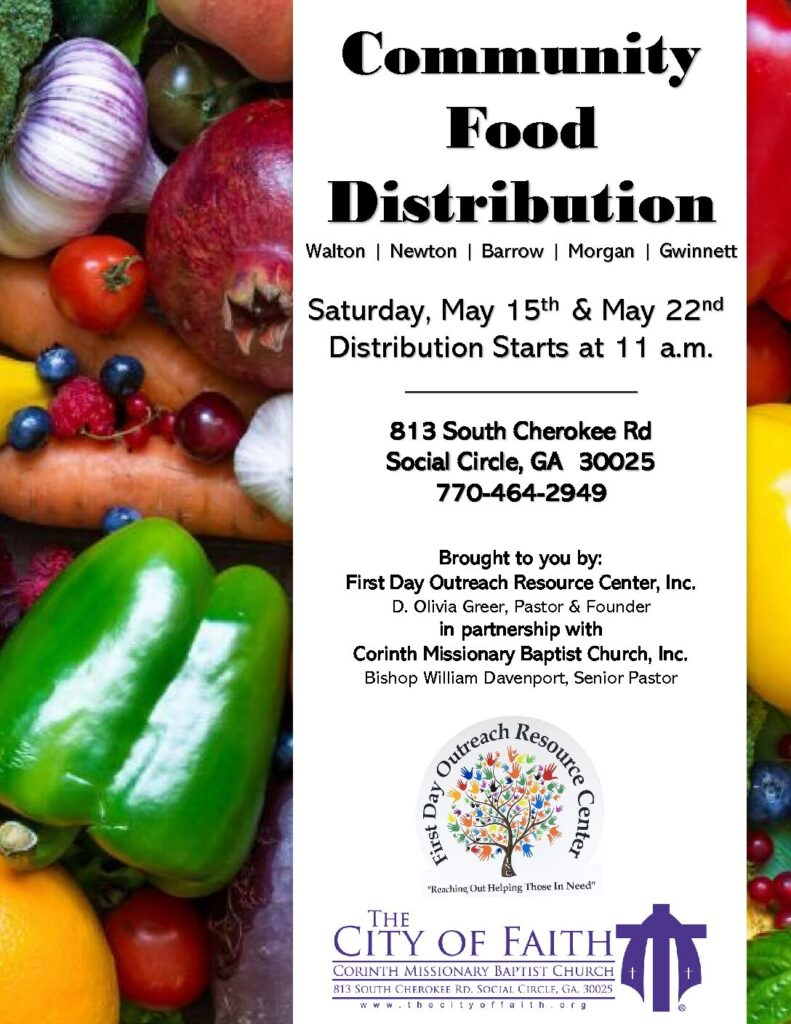 May2021 Community Food Distribution Flyer
